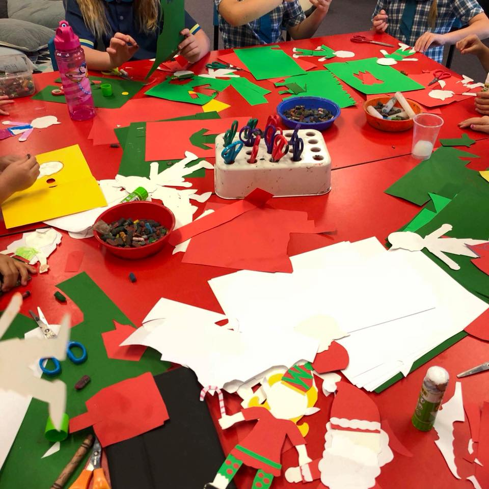 Christmas characters for craft at Forest Lake OSHC